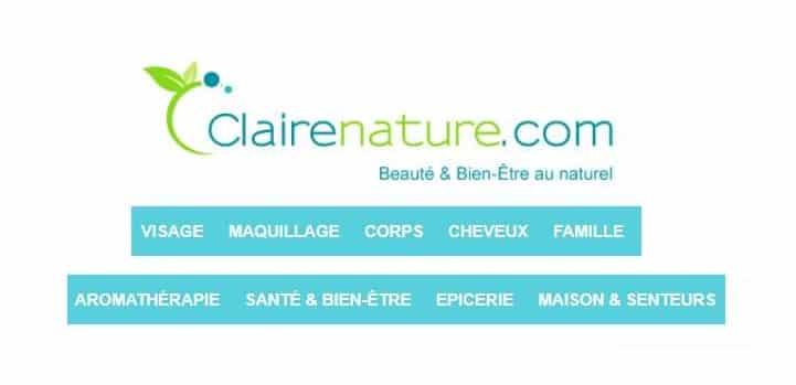 remise sur Clairenature même promo boutique de produits Bio & Naturels