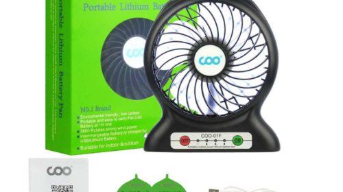 ventilateur USB 3 vitesses avec batterie COO