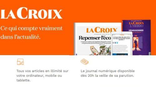 1 mois d'abonnement numérique au quotidien La Croix pour 1€