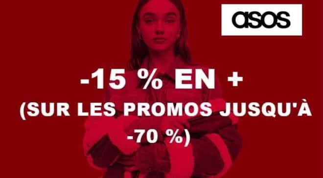 15% de remise supplémentaire sur les articles en promotions sur Asos