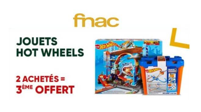 2 Hot wheels achetés le troisième offert sur FNAC