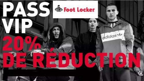 20% de reduction sur le site Foot Locker