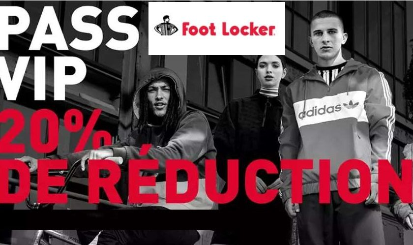20% de reduction sur le site Foot Locker
