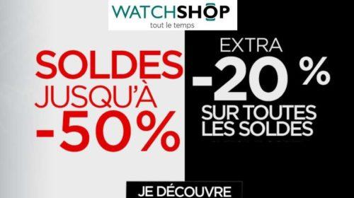 20% de remise supplémentaire sur les promotions de Watchshop