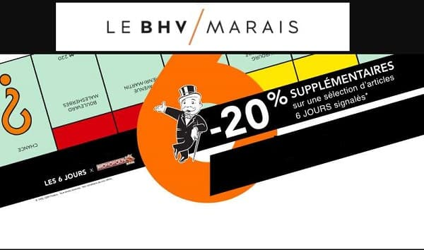 20% De Remise Supplémentaires Sur Les Promotions Bhv Marais