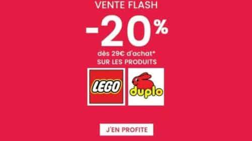20% de remise sur Lego et Duplo