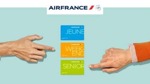 20€ de remise sur les cartes de réduction Air France