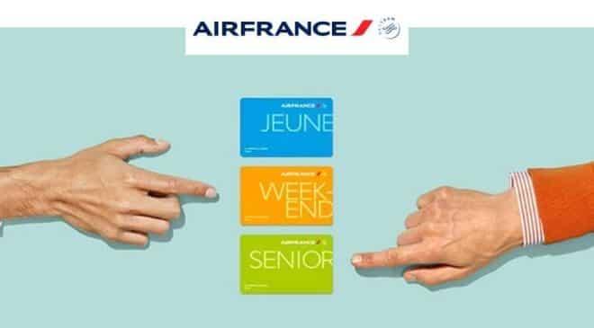 20€ de remise sur les cartes de réduction Air France