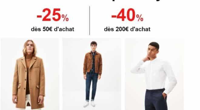 25% de remise sur Celio dès 50€ ou -40% dès 200€ pour les Open Days