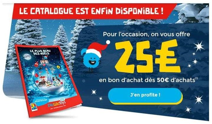 25€ offert en bon d'achat dès 50€ d'achats sur PicWicToys