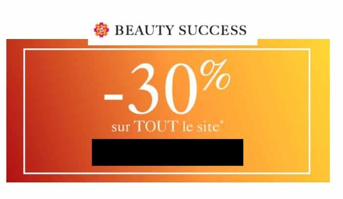 30% de réduction sur tout le site Beauty Success