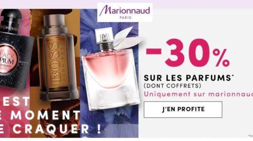 30% de remises sur les parfums sur Marionnaud (dont coffrets)