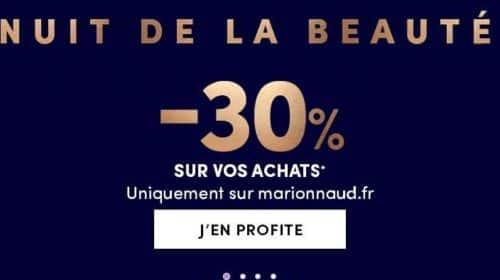 30% sur tout le site Marionnaud pour la Nuit de la Beauté