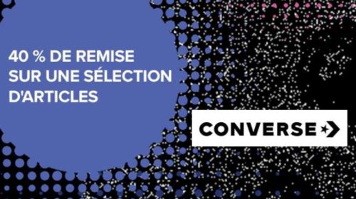 40% de remise sur une sélection d'articles Converse