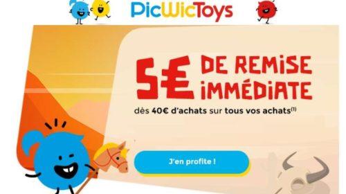 40€ d'achat sur PicWicToys 5€ de remise immédiate