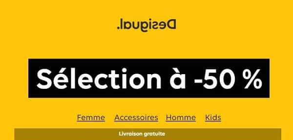 50% De Remises Sur Une Sélection Desigual De Vêtements Et Accessoires
