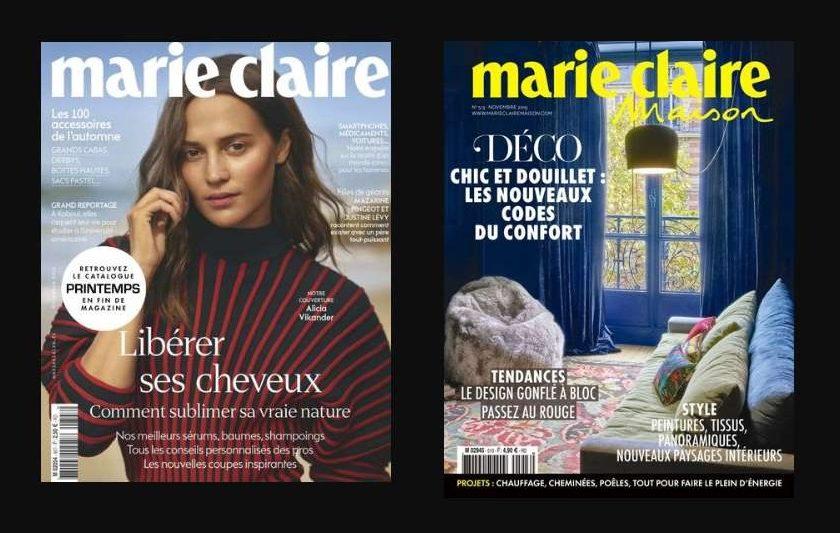 Abonnement Marie Claire + Marie Claire Maison pas cher