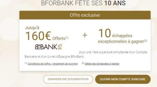 Anniversaire BforBank jusqu'à 160€ offerts