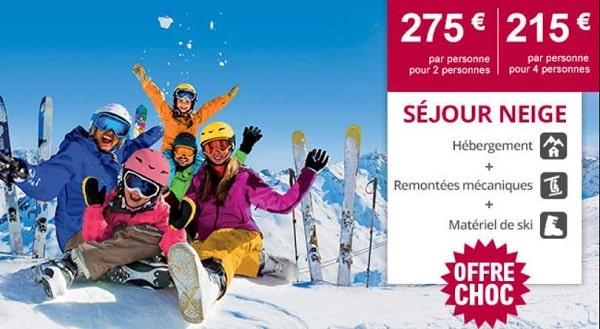bon plan séjour ski tout compris (logement, matériels, forfait) dès 215€ avec leclerc voyages