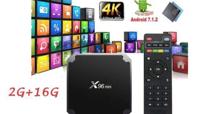 Box Android X96mini Wifi Quad Core 2Go de Ram 16Go mémoire