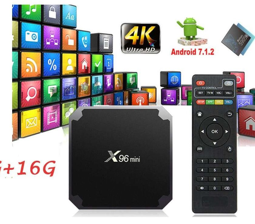 Box Android X96mini Wifi Quad Core 2Go de Ram 16Go mémoire