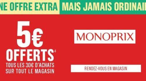 Coupon de réduction Monoprix 5€ de remise