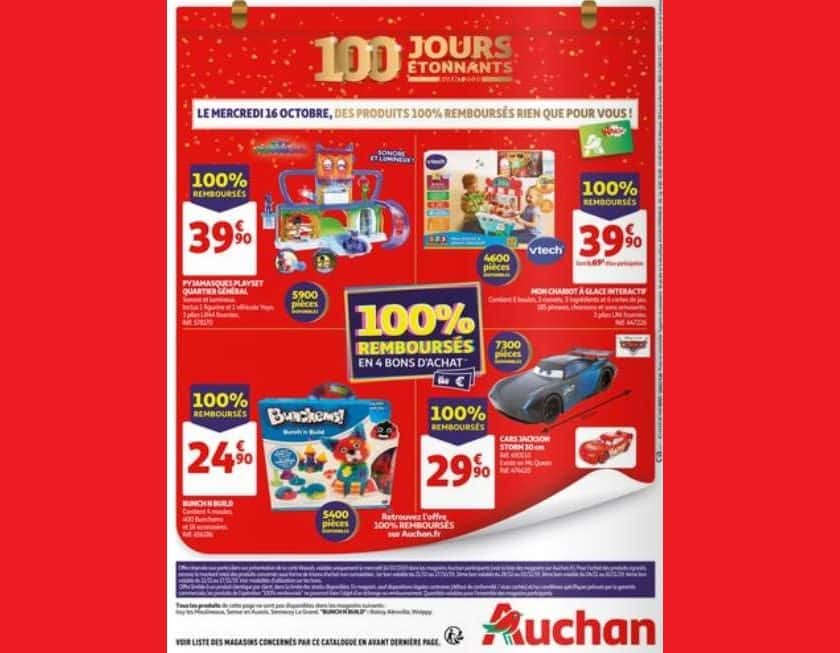 Mercredi 16 octobre 2019 5 jouets 100% remboursés par Auchan