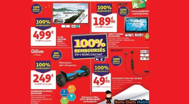 Mercredi 23 octobre 2019 4 articles High-tech 100% remboursés par Auchan