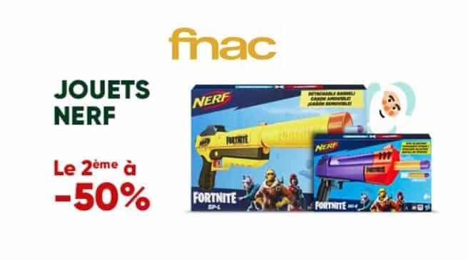 Offre 1 Nerf acheté sur FNAC = le second à moitié prix