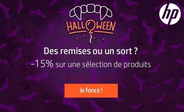 Offre Halloween HP 15% de remise sur une sélection de PC