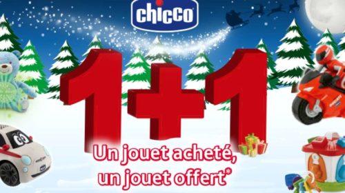 Offre de remboursement CHICCO Noel 1 jouet acheté = 1 jouet 100% remboursé