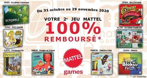 Offre De Remboursement Mattel Games De Noel