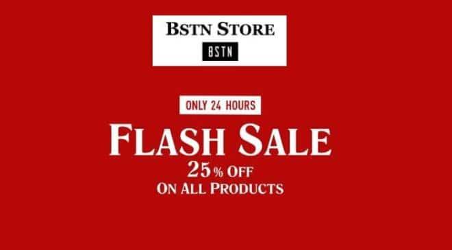 Offre flash BSTN Store 25% sur presque tout le site
