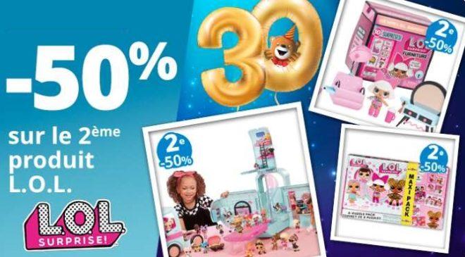 Offre spéciale L.O.L Surprise -50% sur la seconde