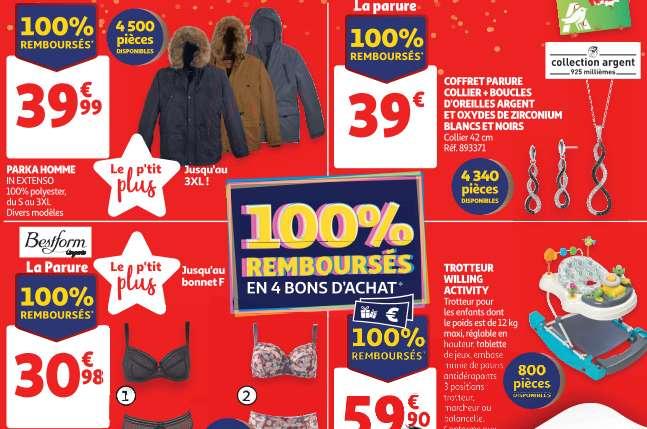 Produits 100% remboursés Auchan le mercredi 9 octobre 2019