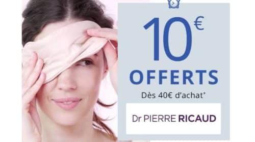 Remise de 10€ sur le site Dr Pierre Ricaud dès 40€ d'achats