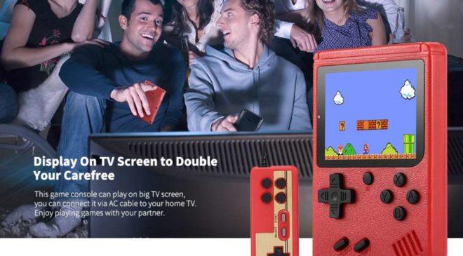 Vente flash console retro portable Ragebee avec 500 jeux vidéo intégrés et manette