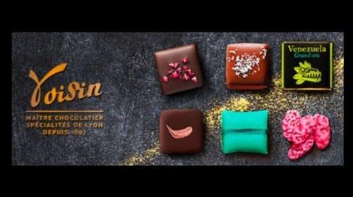 Vente privée chocolat Voisin ballotins (dont Coussins de Lyon), tablettes et cafés