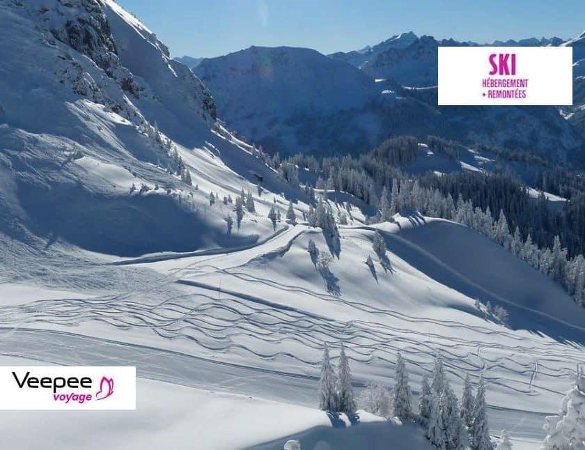 Vente privée séjour ski avec forfait remontées mécaniques inclus