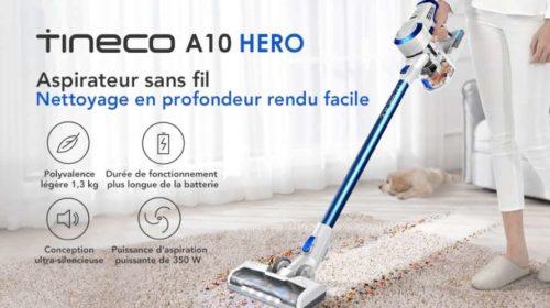 aspirateur balai Tineco A10 sans fil sans sac forte aspiration batterie lithium