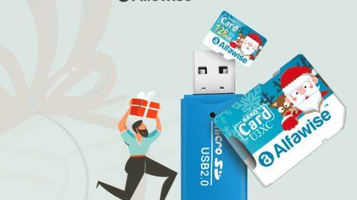 carte micro SDXC 128GO U3 Alfawise Christmas Edition