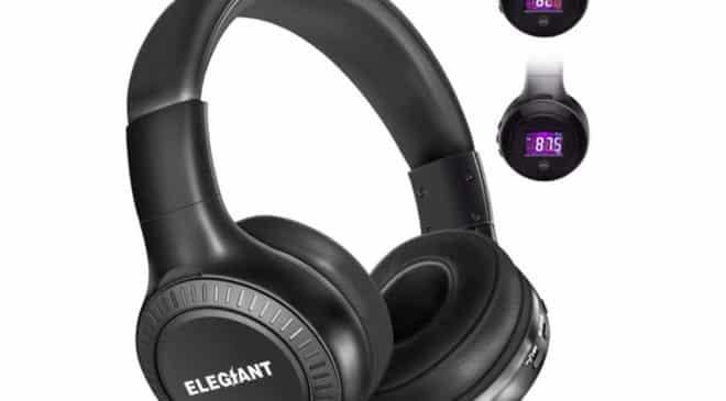casque Bluetooth avec FM, micro et affichage digital ELEGIANT