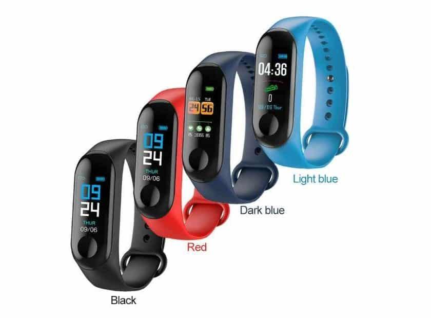 montre bracelet connectée fitness 4 coloris