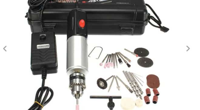 petite perceuse outil multifonction électrique avec 33 accessoires