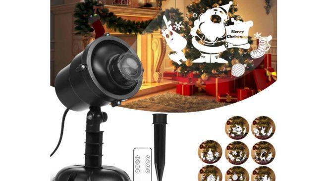 projecteur extérieur de Noel rotatif avec télécommande Hosport