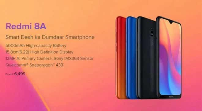 promotion smartphone Xiaomi Redmi 8A