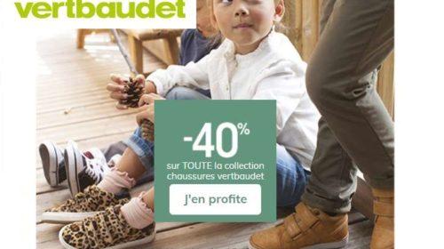 remise sur toutes les chaussures pour enfant Vert Baudet