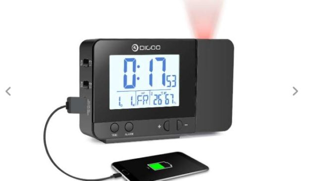 réveil digital avec projection, port USB de charge Digoo DG-C10