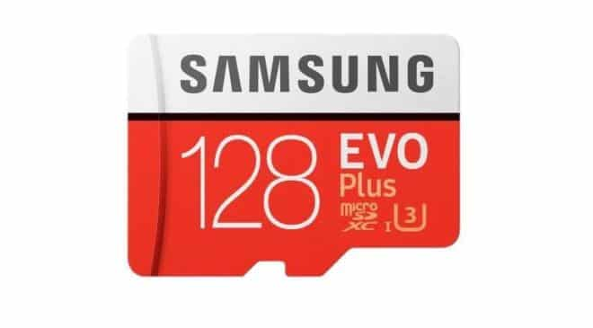vente flash carte micro SDXC 128Go Samsung EVO Plus