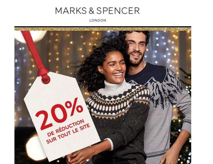 20% de remise sur tout le site Marks & Spencer